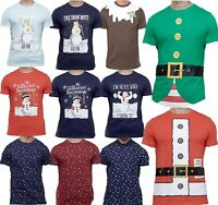 Mens Christmas Novelty Funny T Shirt Short Sleeve Polo Crew Neck Xmas Top