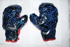 One Pair of Spider Man Soft Blue Boxing Gloves stuffy glove for kids plus3