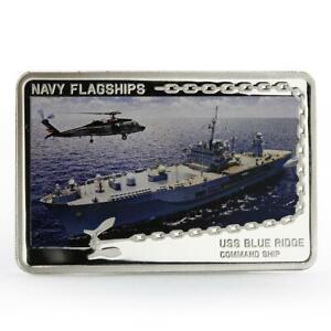 Tanzania 500 shillings Navy Flagships series USS Blue Ridge silver coin 2014