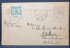 Netherlands Indies 1925 Postal Stationery to St. Gallen Swiss Schweiz GS (I-7611