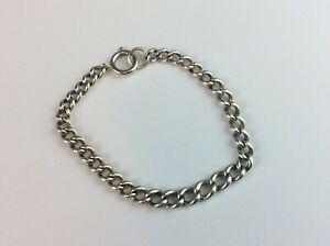 VINTAGE STERLING 925 SOLID SILVER HALLMARKED Albert Chain Bracelet.