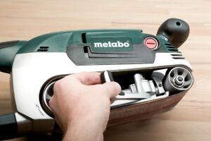 Metabo BAE 75 Bandschleifer, 600375000, mit Maschinenständer und Starterset