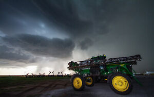 Photography Print of Farm Sprayer and Storm in Kansas