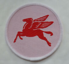 2 x BRAND NEW VINTAGE MOBIL FLYING PEGASUS HORSE PATCHES (RACING GRAND PRIX)