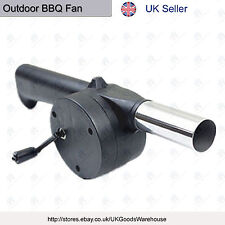 Outdoor BBQ Barbecue Fan Air Blower Fire Flames Bellows Hand Crank Powered New O