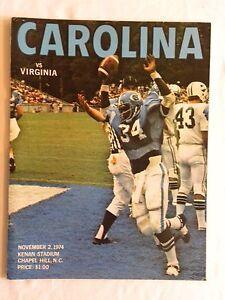 1974 UNC Tar Heels vs. Virginia Football Program
