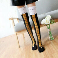 Stylish Women Girl Chicken High Socks Legs Thigh Cartoon Animals Stockings A8A