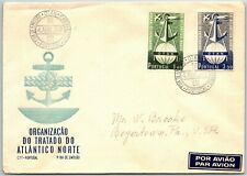 GP GOLDPATH: PORTUGAL COVER 1952 AIR MAIL FIRST DAY COVER _CV777_P22