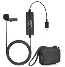 Movo LV1-DI Lavalier Microphone MFi Lightning Connector for iPhone, iPad, iPod