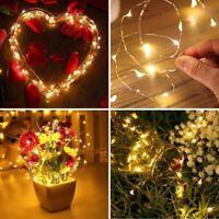 LED String Battery Copper Wire Fairy Lights Wine Bottle Halloween Wedding Decor