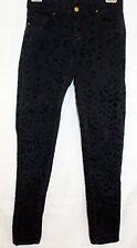 Zara Woman Jeans Leopard Animal Print Stretch Slim Fit Skinny Black size 36 sz 4