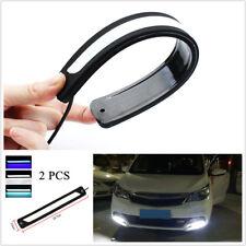 2x White DRL LED Car Daytime Running Light Driving Bulbs Daylight Strip Fog Lamp