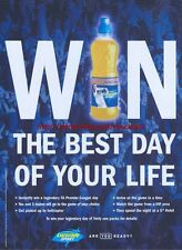 "Lucozade Sport ""Win The Best Day Of Your Life"" 2005 Magazine Advert #2073"