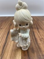 "Precious Moments Figurine 1992- 527688- ""Dear Santa List"""