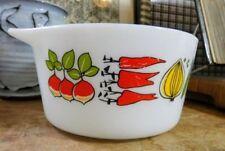 Bowl White Vintage Original Glassware
