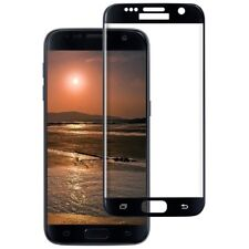 Full Curved 4D Tempered Glass Screen Protector Black For Samsung Galaxy S7 Edge