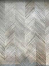 New listing Maya Romanoff Ajiro Chevron Wallpaper Ash Luster - 11yd total