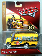 Disney Cars 3 Miss Fritter School Bus Thunder Hollow Diecast Toy Ms Fritter