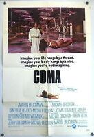 Sci-Fi Horror Coma Michael Crichton ORIGINAL 1970s 1 Sheet Poster Bujold