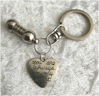 Cremation Jewellery Ashes Urn Keyring w Always On......Funeral Keepsake Memorial