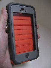 OTTER BOX ARMOR Waterproof Tough CELL PHONE CASE IPHONE 5 Orange Gray Otterbox