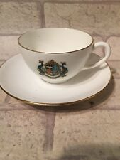 Vintage Crested Cup Saucer Ilfracombe Grafton China