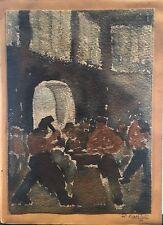 Kunze wohl Richard 1892 Männer Schmiede am Amboß Industrie Oberkörper frei