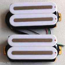 NEW set ARTEC HOT RAILS - humbuckers white rails nickel  pour guitare