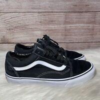 Vans Old Skool Black White Low Canvas Classic Skate Shoes Mens Size 9.5