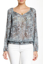 NWT LUCKY BRAND WOMEN'S MULTI-COLOR POLYESTER LONG SLEEVE BLOUSE SIZE S-$89.50