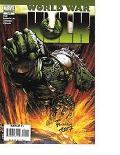 World War Hulk #1 signed David Finch THOR MOVIE NM
