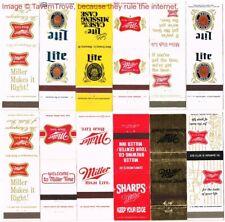 Lot of Twelve 1960s-70s Miller High Life & Lite Beer Matchcovers TavernTrove