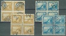 Nicaragua 1869-71 1c & 2c/1878 roulette 1c & 2c/blocks