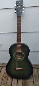 S101 (D36420HGB) *Green* Acuostic Guitar, 3/4 size Travel-NICE