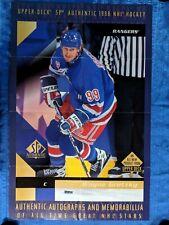 NHL 1998 UPPER DECK WAYNE GRETZKY ADVERTISING POSTER 34X22 (originally folded)