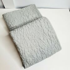 Lot of 2 Pottery Barn Belgian Flax Linen Floral king sham, flagstone gray