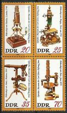Germany (East) DDR GDR 1980 MNH - Science - Zeiss Optical Museum Microscopes