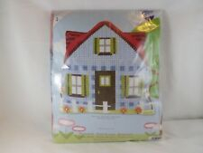 Vervaco Stamped Cross Stitch Pillow Kit - New - Blue House