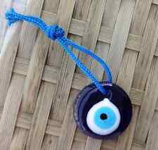 Hanging Lucky 3cm Glass Turkish Evil Eye Nazar Hamsa Charm Kabbalah Sun Catcher