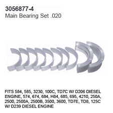 3056877-4 Case Tractor Parts Main Bearing Set .020 Ih 584, 585, 3230, 100C, Td7C