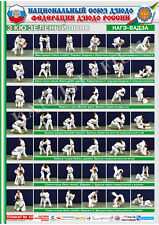 Posters Judo. Green belt 1 poster.The technique of judo.Nage Waza.