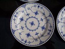 "Denmark Blue Furnivals Bread Dessert Saucer Plate England Flowers 6.25"" 7/8"