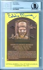 EDDIE MURRAY Signed HOF Plaque Baseball JSA Authentic ORIOLES DODGERS AUTO