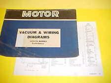 1970 1971 1972 1973 1974 CHEVROLET CAMARO SS Z-28 RS 454 VACUUM+WIRING DIAGRAMS