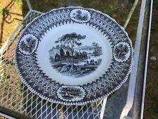 Gustavsberg Gustafsberg pair Transfer Ware Dinner Plates Sweden 1839-1860 19th C