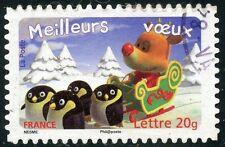 TIMBRE DE FRANCE  OBLITERE N° 3986 / AUTOADHESIF N° 97 MEILLEURS VOEUX