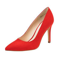 JENN ARDOR Women's Classic High Heels Pumps Pointed Toe Stiletto Party Shoes Red