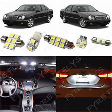 11x White LED lights interior package kit for 1998-2002 Mercedes E-Class ZS3W