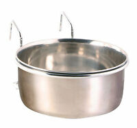 Coop Cup Stainless Steel Bowl Water Holder Crate Food Parrot Dog Cat 600ml 0.6l