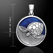 Turtle .925 Sterling Silver Pendant by Peter Stone Jewelry